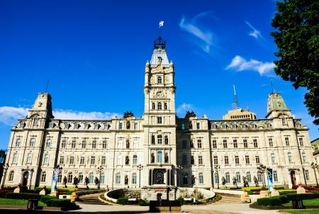 O edif�cio do parlamento em Quebec City, Canad� imagem HDR