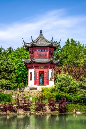 chinese dialect: Chinese Temple Stock Photo