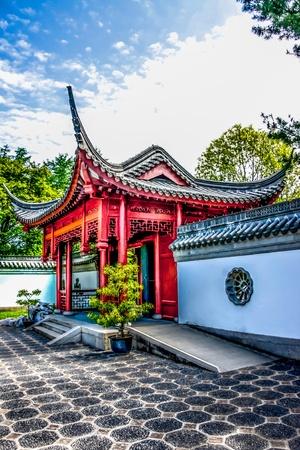 A entrada de um templo chin�s