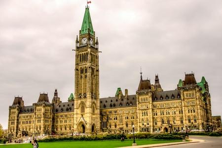 Edif�cio principal do Parlamento do Canad�, em Ottawa, imagem HDR
