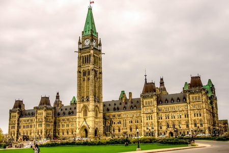 Main building of the Parliament of Canada in Ottawa, HDR image Stock Photo - 17067966