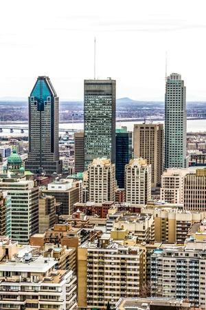 tallness: Montreal Downtown core. Stock Photo