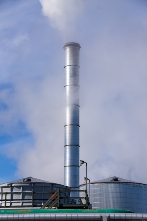 defilement: Smoking Industrial Chimney