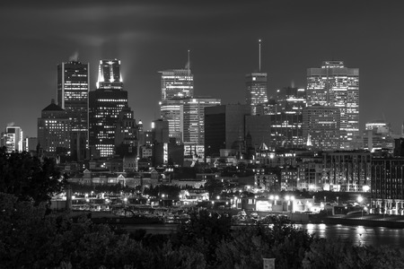 Montreal view from the Jacques Cartier Bridge  Black and White with little bit numeric noise photo