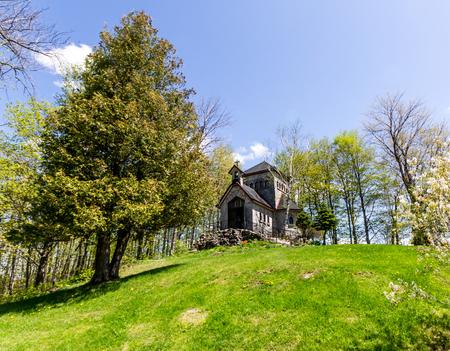 Little Chapel exterior of Saint-Benoit du Lac,Quebec,Canada