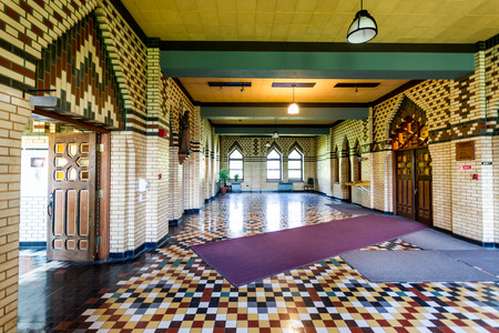 Entry Hall from Monastery of Saint-Benoit du Lac Quebec,Canada