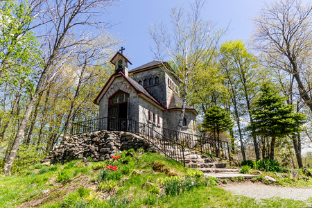 Little Chapel exterior of Saint-Benoit du Lac,Quebec,Canada