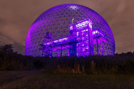 Interior color light, of metallic structure. blue-purple