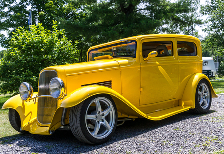 This car is a 1932 Ford two-door Editorial