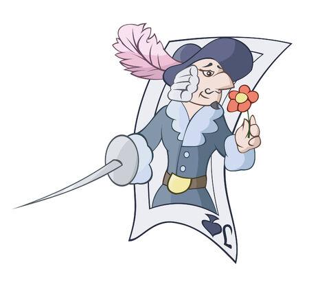 mosquetero: Jack con una espada Vectores