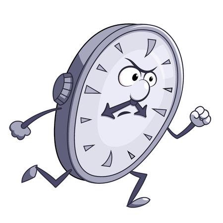Illustration de l'horloge colère course Banque d'images - 39056825
