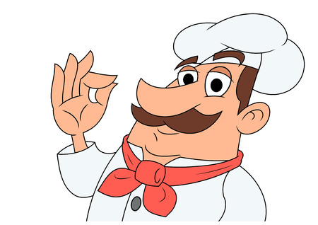 Illustration of the smiling chef showing a perfect gesture