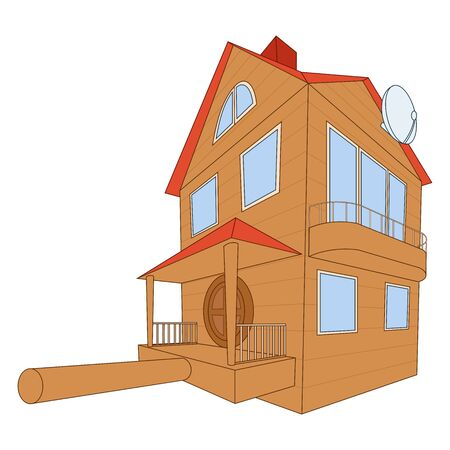 starling: Illustration of the large and comfortable bird house Illustration