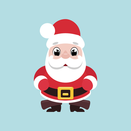 Illustration of a cute smiling Santa Claus. Vector illustration