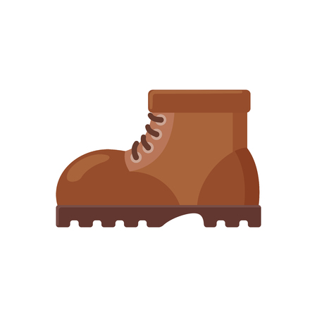 Illustration of a brown boot on a white background