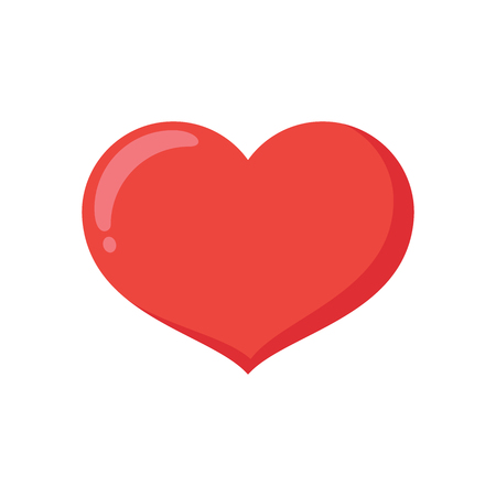 Illustration of a red heart on a white background