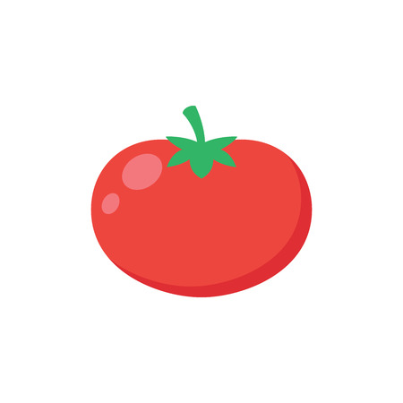 Illustration of a red tomato on a white background