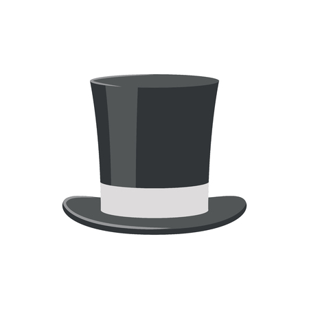 Illustration of a top hat on a white background Ilustração