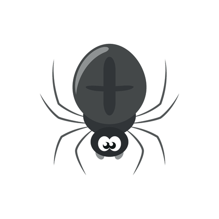 Illustration of a black spider on a white background