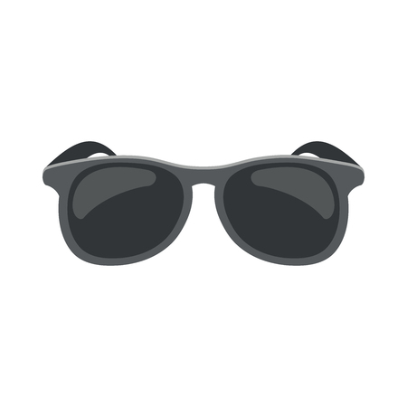 Illustration of a black sunglasses on a white background