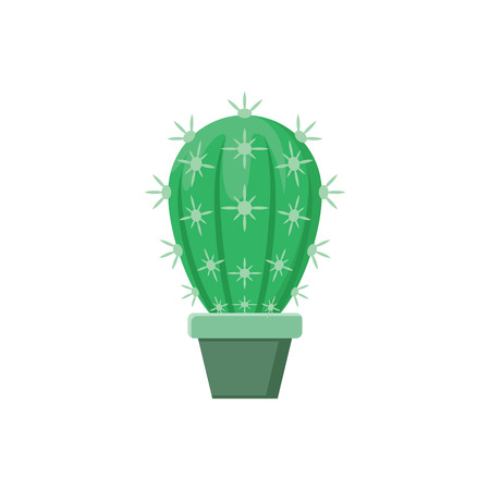 Illustration of a cactus in a pot on a white background Çizim
