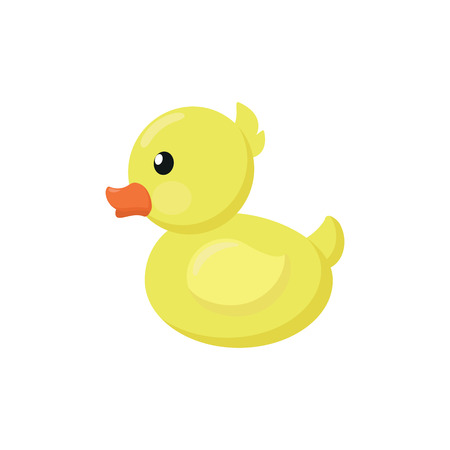 Illustration of a yellow duck on a white background