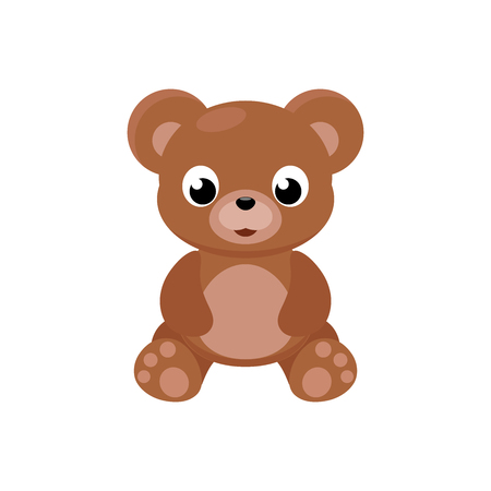 Illustration of a toy bear on a white background Ilustração