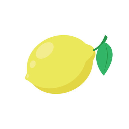 Illustration of a lemon on a white background Çizim