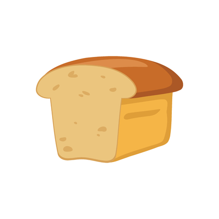 Illustration of a brown bread on a white background