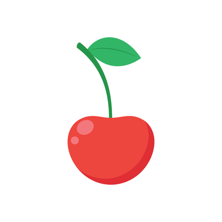 Illustration of a cherry on a white background