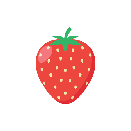 Illustration of a delicious strawberry on a white background