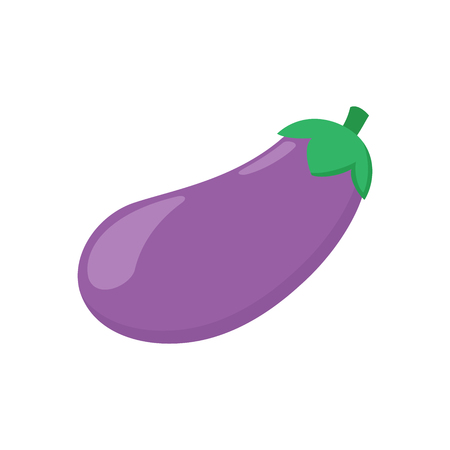 Illustration of an eggplant on a white background Çizim