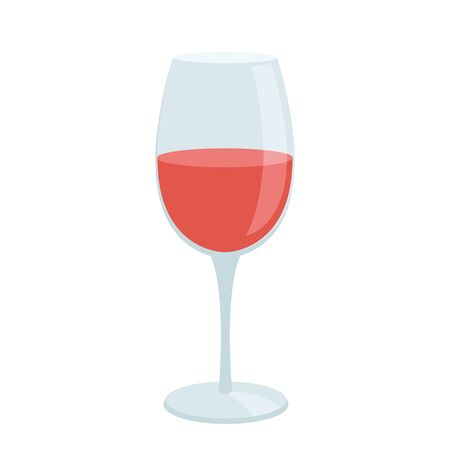 Illustration of a glass of wine flat icon on a white background Ilustrace