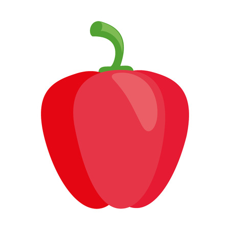Illustration of a red pepper flat icon on a white background Ilustrace