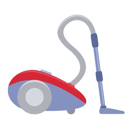 Illustration of a vacuum cleaner flat icon on a white background