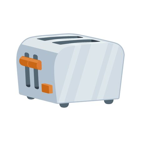 Illustration of a metal toaster icon on a white background Ilustrace