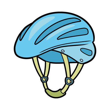 Illustration of a bicycle helmet on a white background Ilustrace
