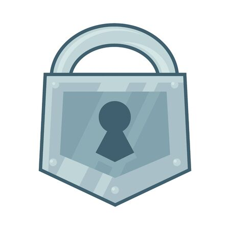 Illustration of a big padlock icon on a white background