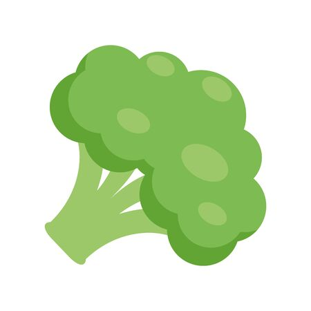 Illustration of a broccoli flat icon on a white background Ilustrace