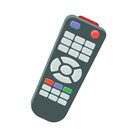 Illustration of a remote control flat icon on a white background