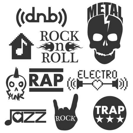 genres: Music genres. Concept elements Illustration