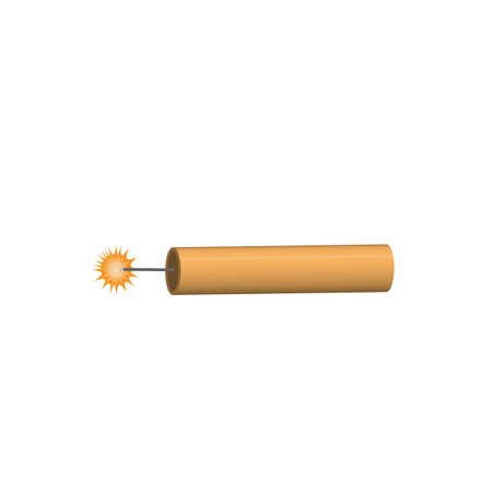 Dynamite. Bomb with a fuse, vector illustration