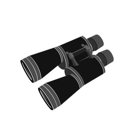 Binoculars isolated on a white background. Vector illustration