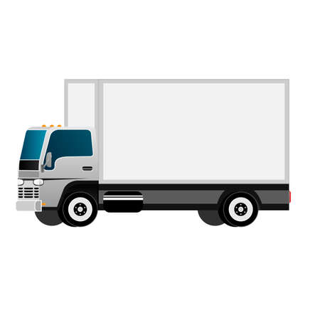 Truck. Cargo delivery by truck. Vector illustration