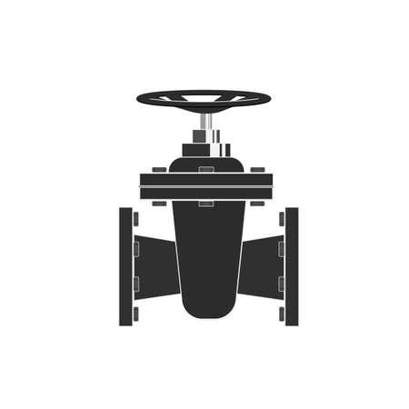 Sanitary valve. Plumbing faucet. Vector illustration