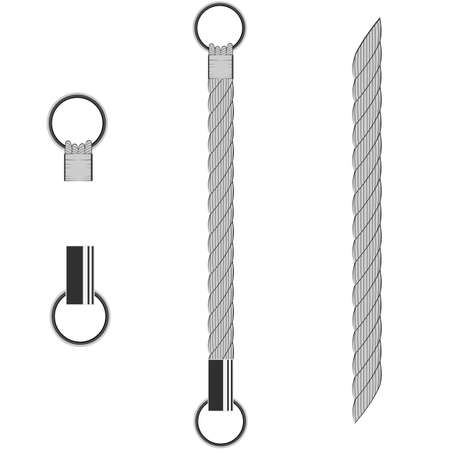 Rope. Cable connection elements. Vector illustration