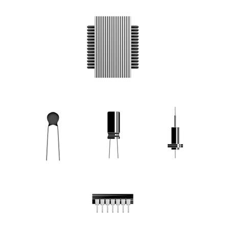 Electronic element. Radio component. Vector illustration