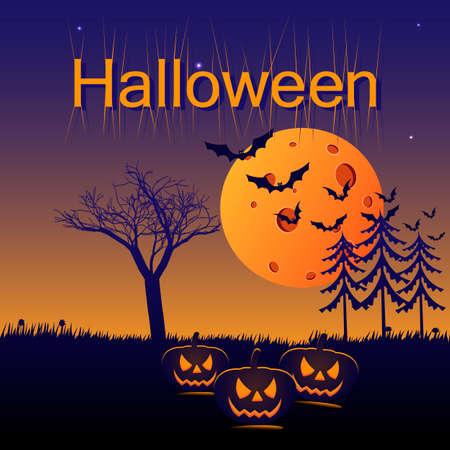 Halloween Halloween card. Vector illustration Ilustrace
