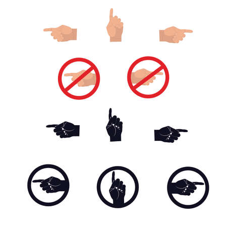 Hand pointer. Cursor sign. Vector illustration