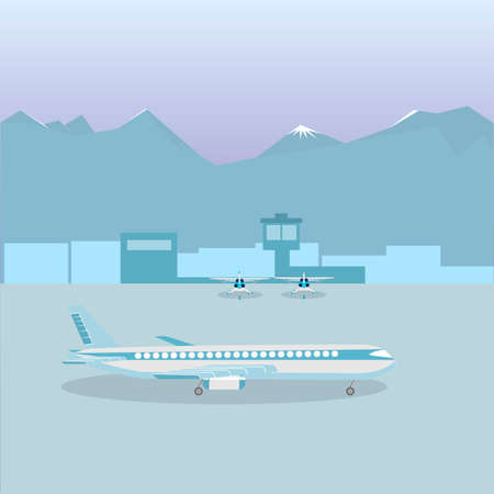 Airport. Planes at the airport. Vector illustration Иллюстрация
